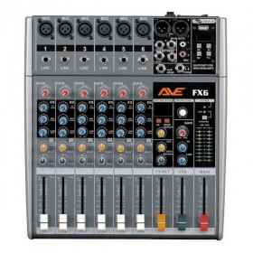 AVE STRIKE-FX6 PA MIXER WITH FX AND USB 6 CHANNEL