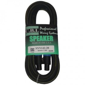 CBI 2m (6.5ft) 14 GA Speaker Cable With Speakon Connectors
